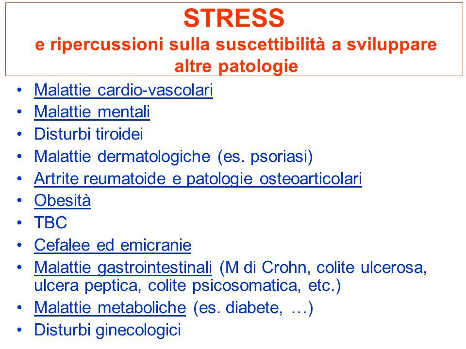 STRESS e ripercussioni sulla suscettibilità a sviluppare altre patologie