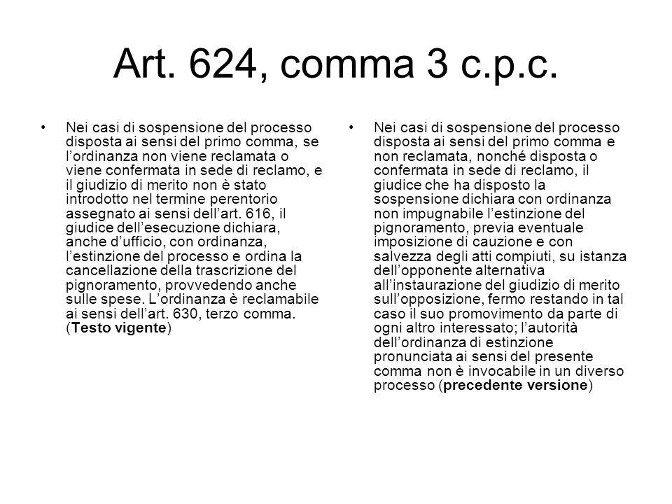 Art. 624, comma 3 c.p.c.