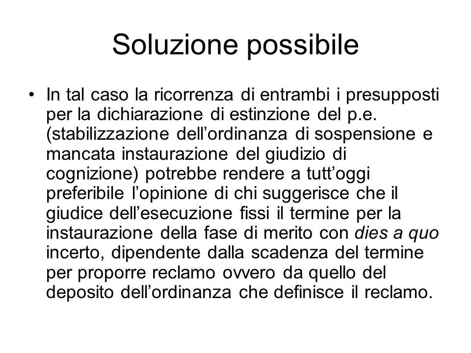 Soluzione possibile