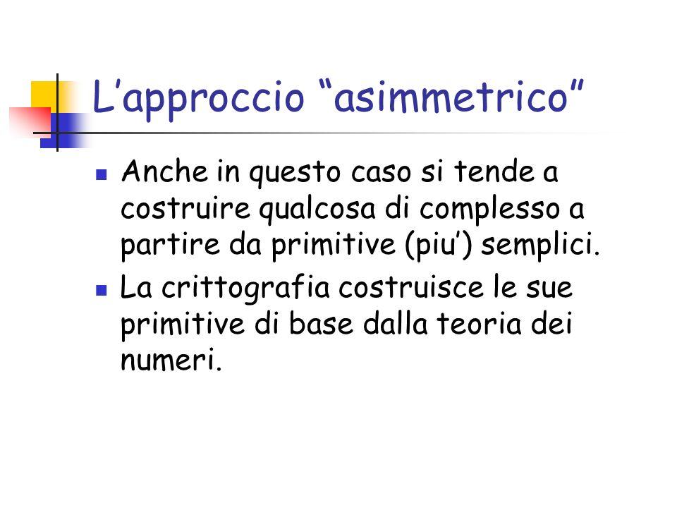 L'approccio asimmetrico