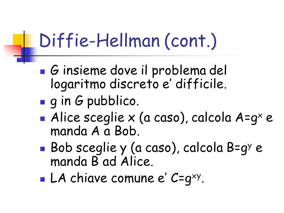 Diffie-Hellman (cont.)