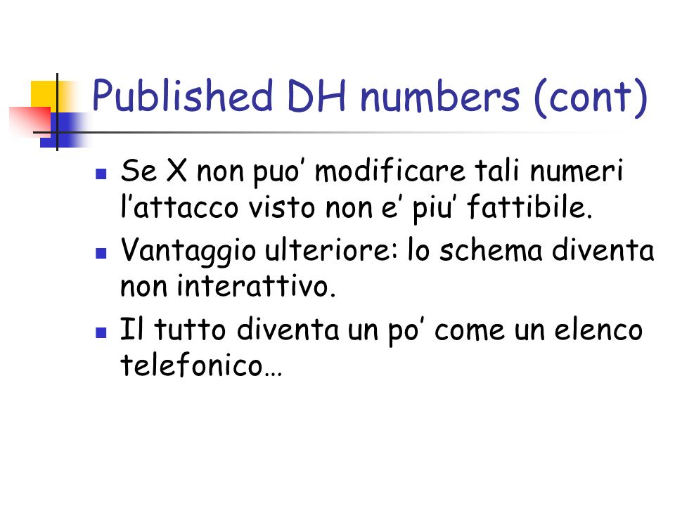 Published DH numbers (cont)