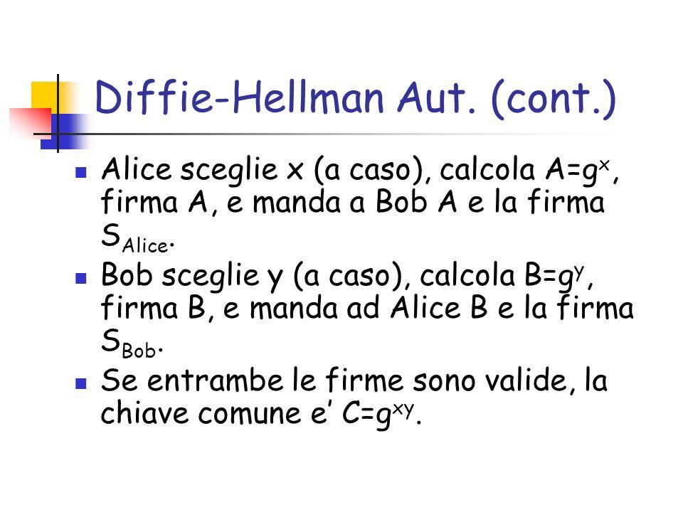 Diffie-Hellman Aut. (cont.)