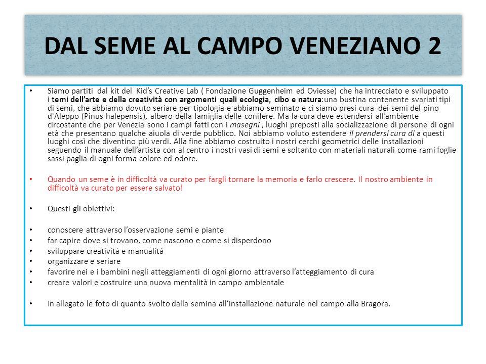 DAL SEME AL CAMPO VENEZIANO 2