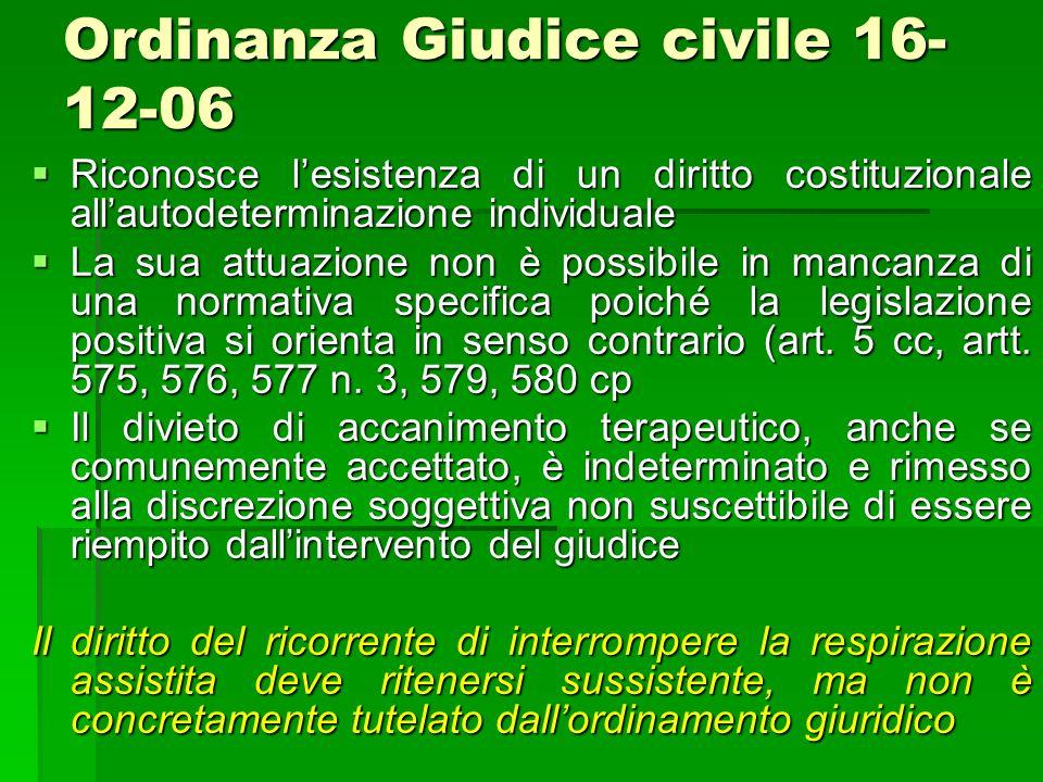 Ordinanza Giudice civile 16-12-06