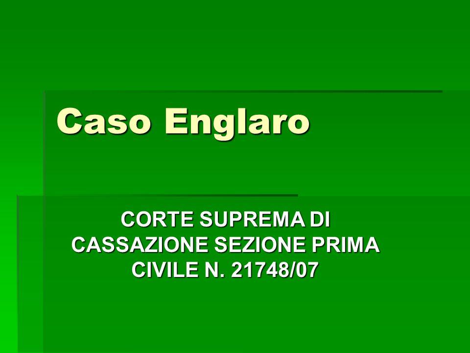 CORTE SUPREMA DI CASSAZIONE SEZIONE PRIMA CIVILE N. 21748/07