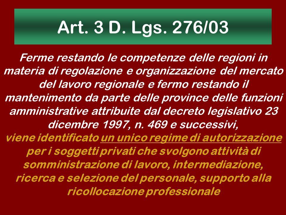 Art. 3 D. Lgs. 276/03