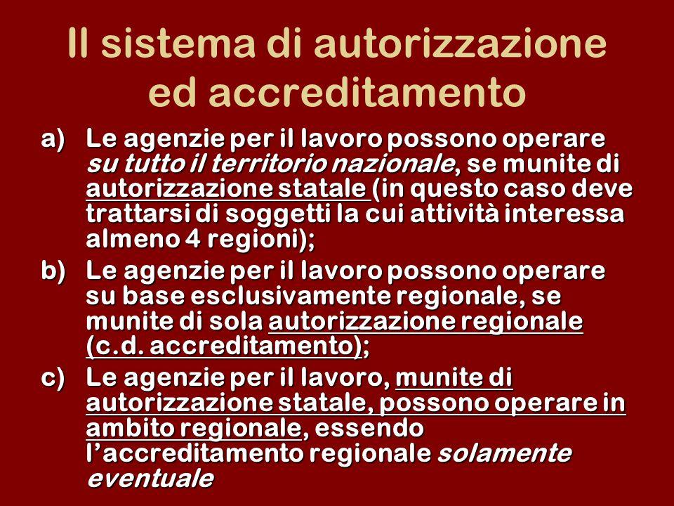 Il sistema di autorizzazione ed accreditamento