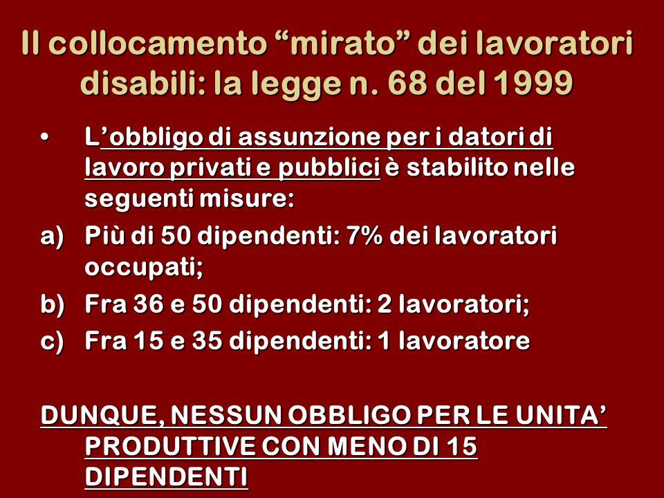 Il collocamento mirato dei lavoratori disabili: la legge n
