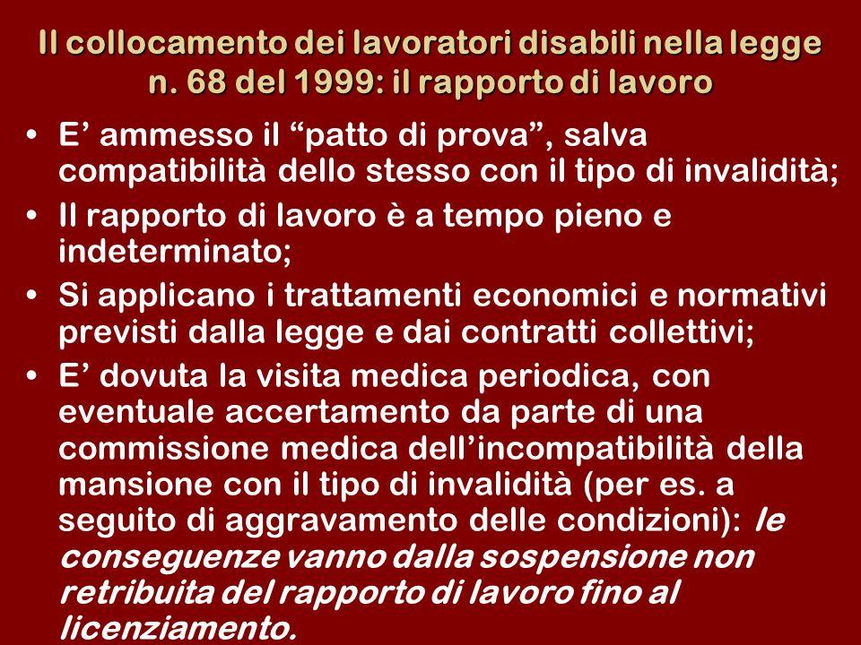 Il collocamento dei lavoratori disabili nella legge n