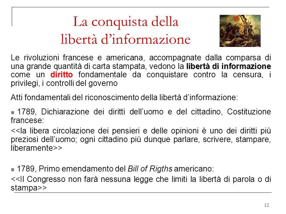 La conquista della libertà d'informazione