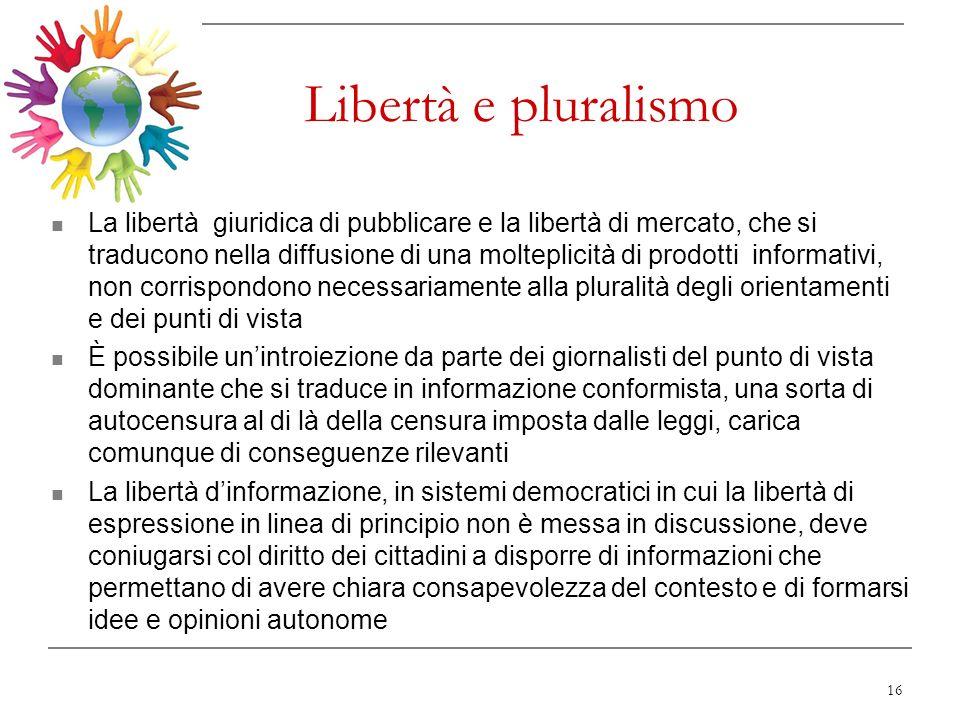 Libertà e pluralismo