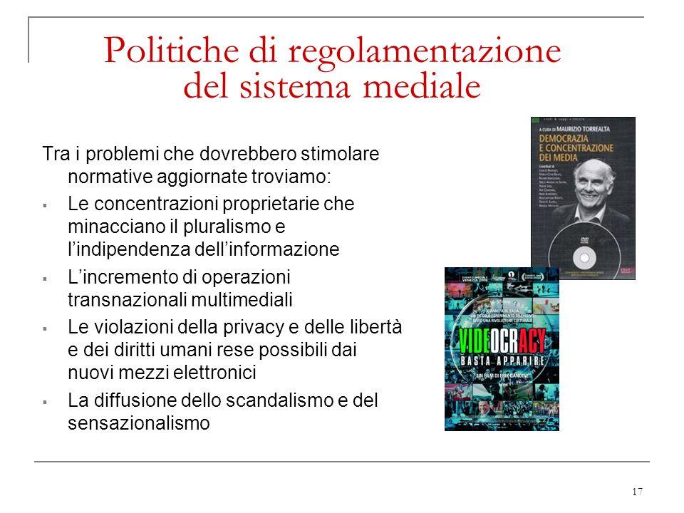 Politiche di regolamentazione del sistema mediale