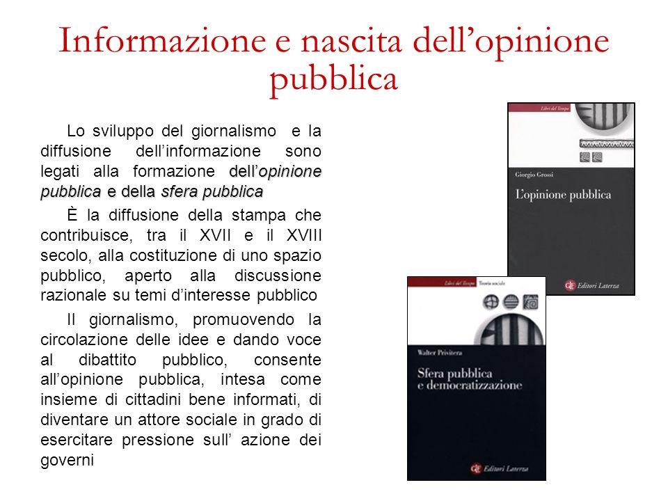 Informazione e nascita dell'opinione pubblica