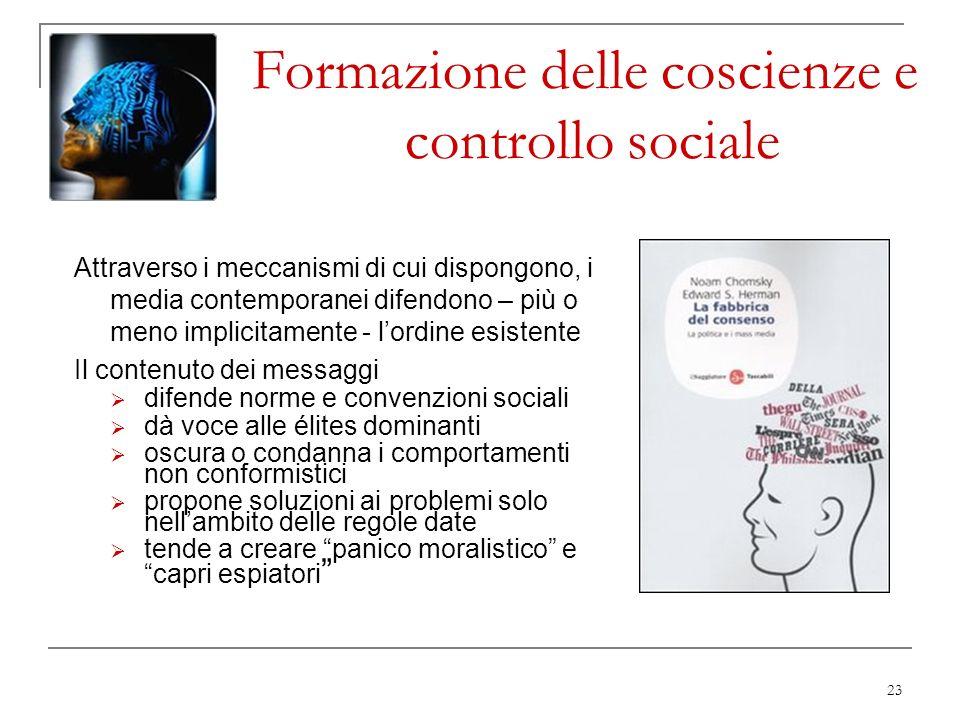 Formazione delle coscienze e controllo sociale
