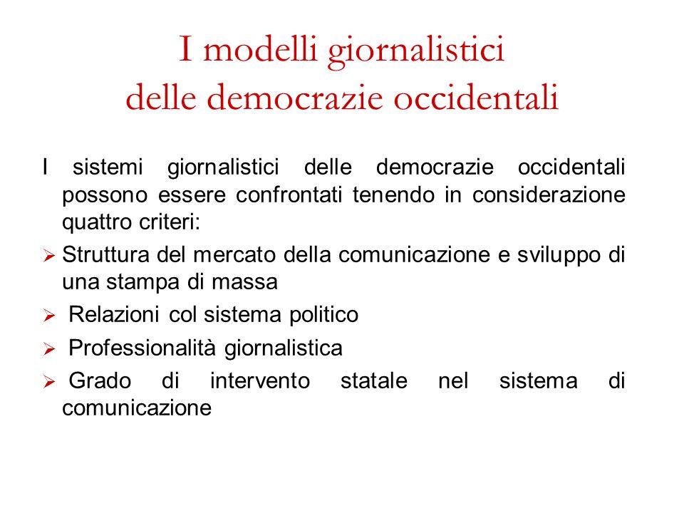 I modelli giornalistici delle democrazie occidentali
