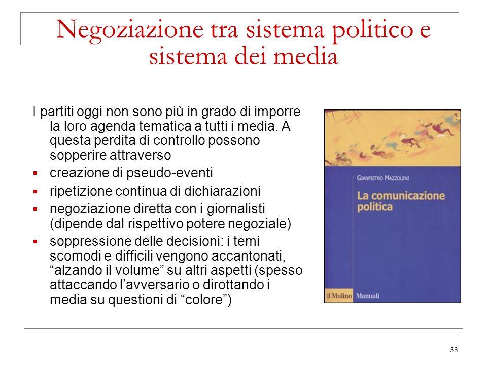 Negoziazione tra sistema politico e sistema dei media