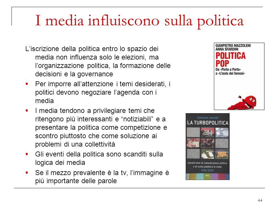 I media influiscono sulla politica