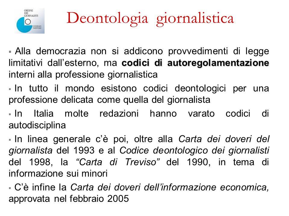 Deontologia giornalistica