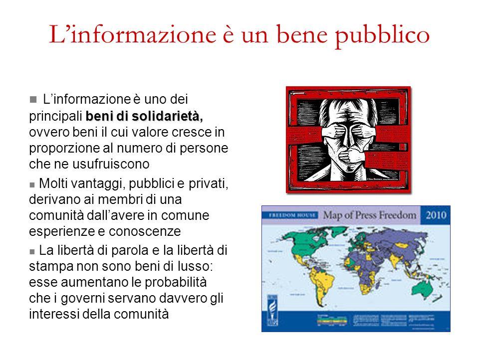L'informazione è un bene pubblico
