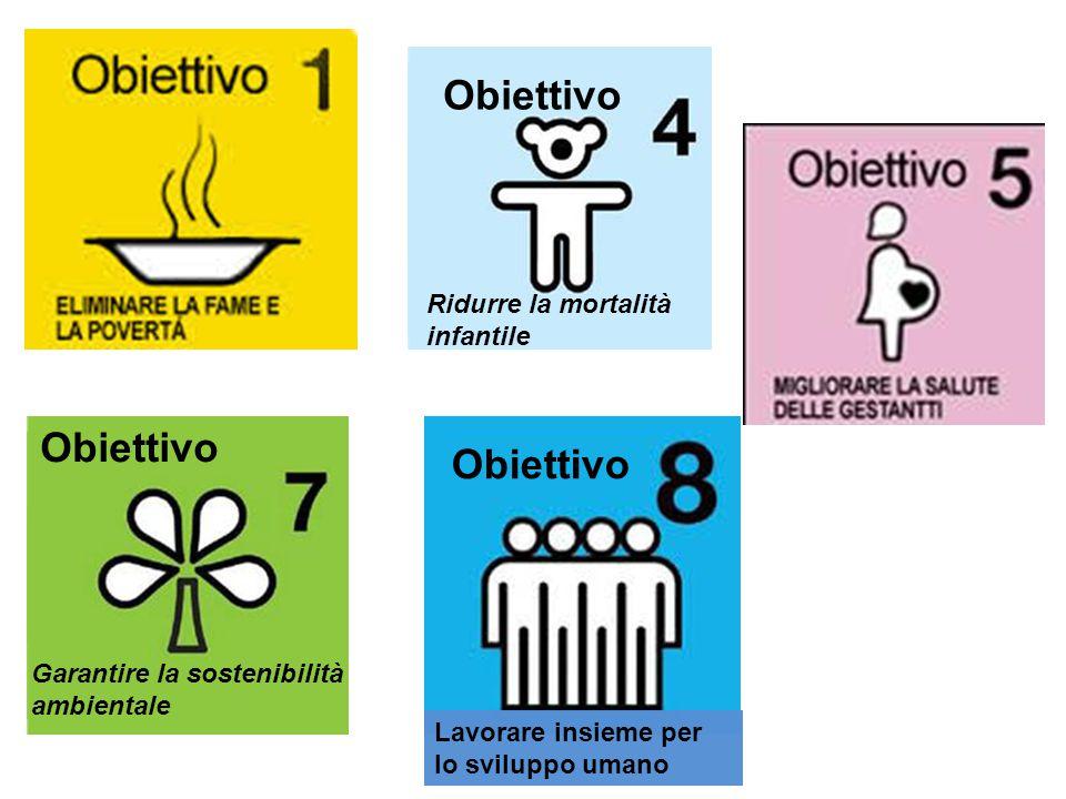 Obiettivo Obiettivo Obiettivo Ridurre la mortalità infantile