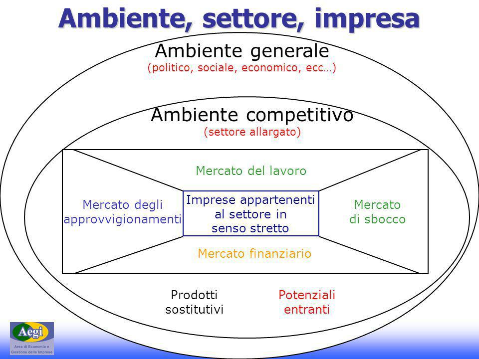Ambiente, settore, impresa