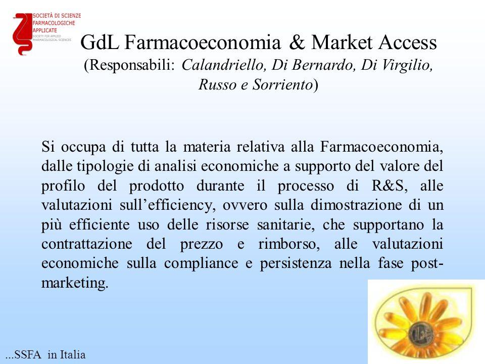 GdL Farmacoeconomia & Market Access (Responsabili: Calandriello, Di Bernardo, Di Virgilio,