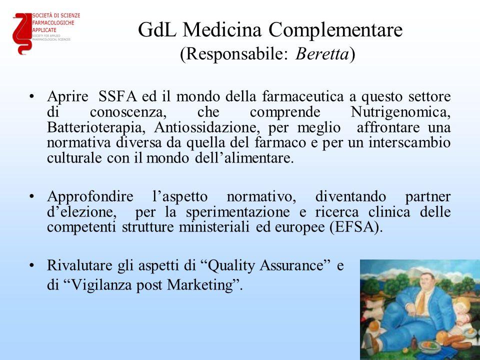 GdL Medicina Complementare (Responsabile: Beretta)