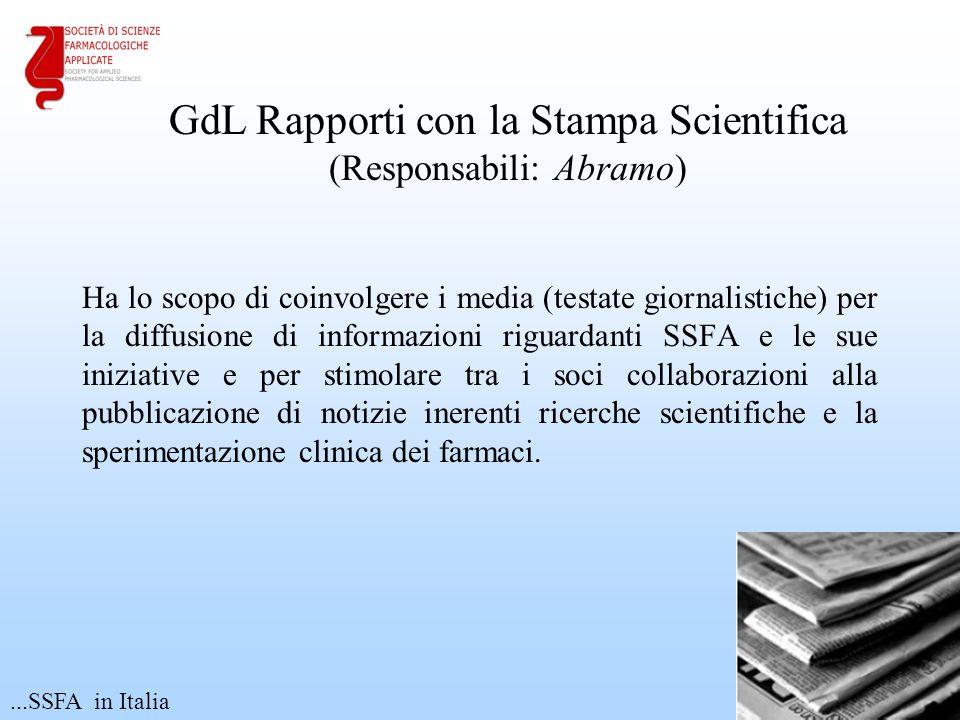 GdL Rapporti con la Stampa Scientifica (Responsabili: Abramo)