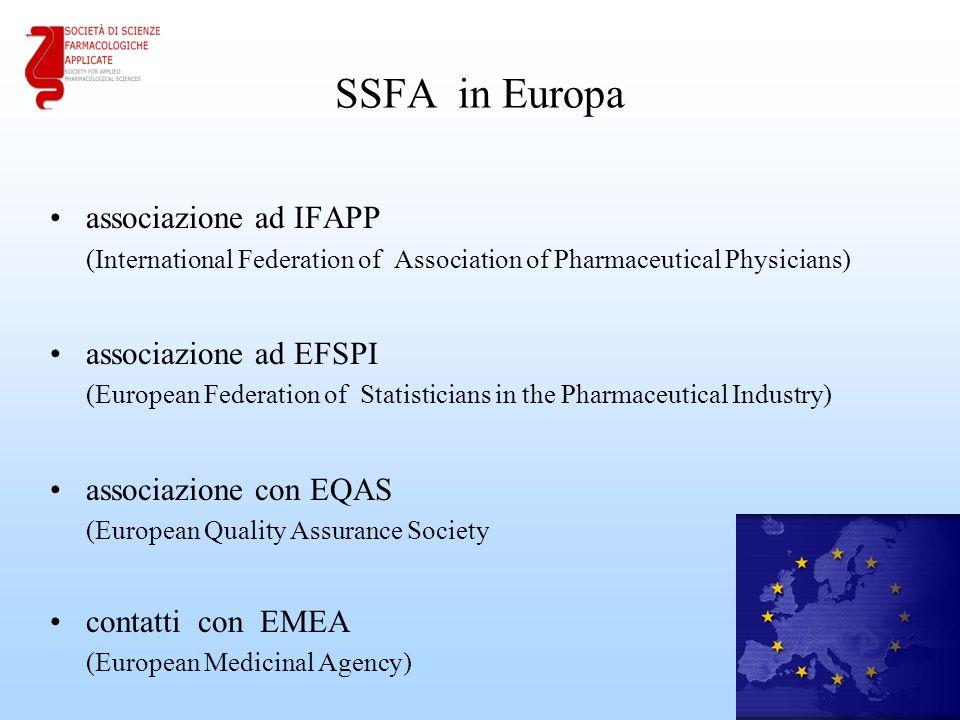 SSFA in Europa associazione ad IFAPP associazione ad EFSPI