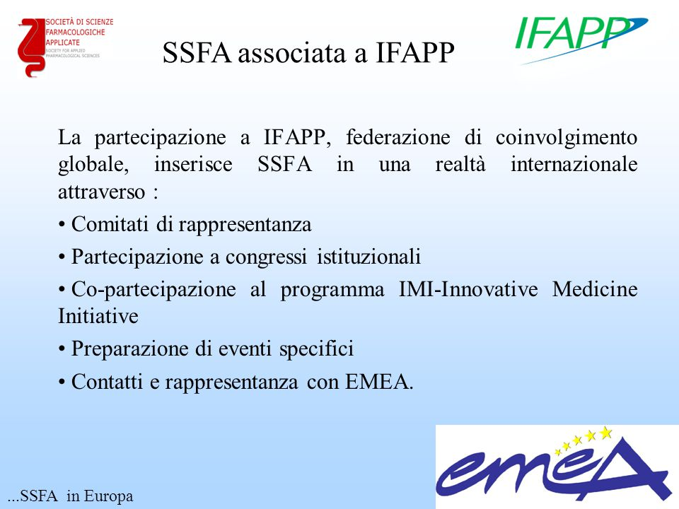 SSFA associata a IFAPP