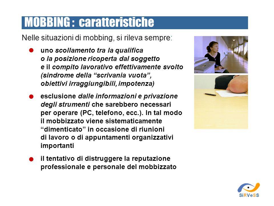 MOBBING : caratteristiche