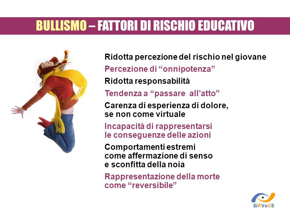 BULLISMO – FATTORI DI RISCHIO EDUCATIVO