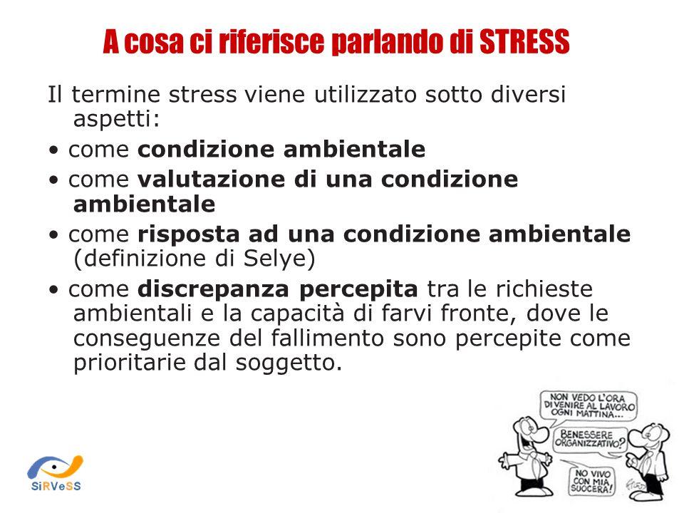 A cosa ci riferisce parlando di STRESS