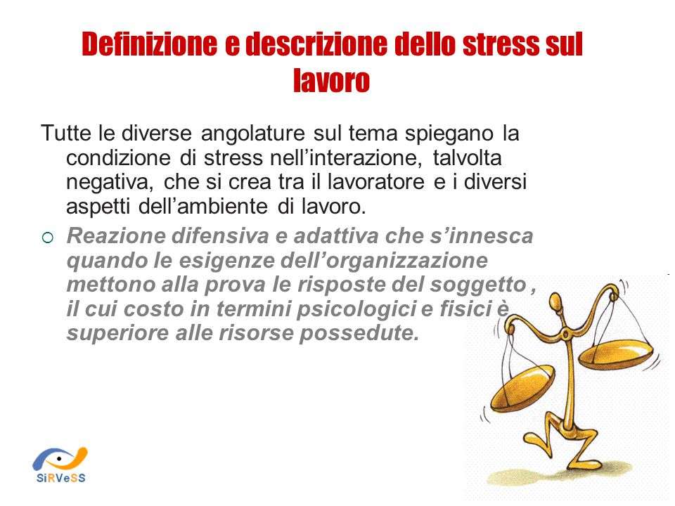 Definizione e descrizione dello stress sul lavoro