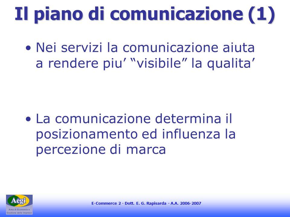 Il piano di comunicazione (1)