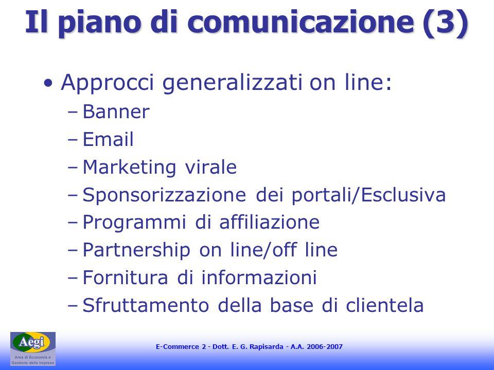 Il piano di comunicazione (3)