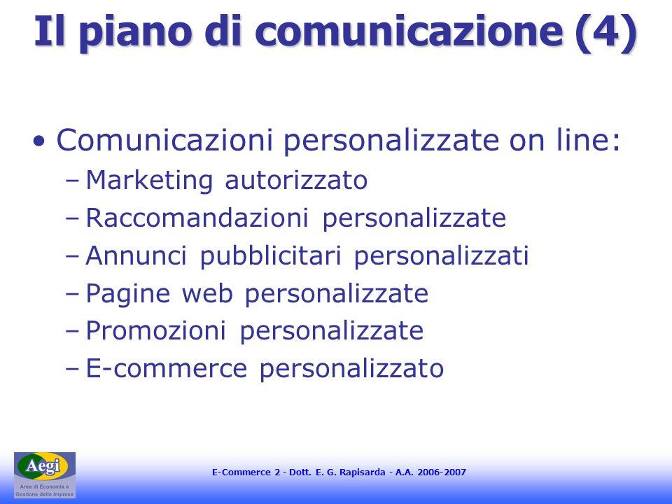 Il piano di comunicazione (4)