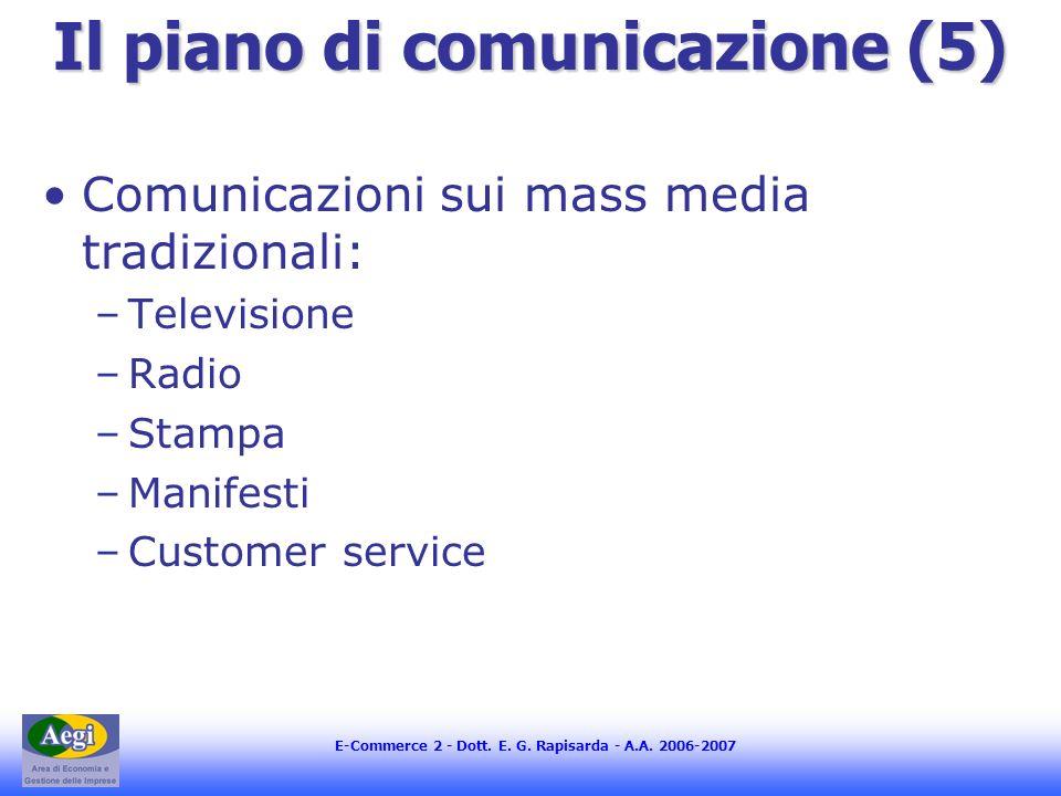Il piano di comunicazione (5)
