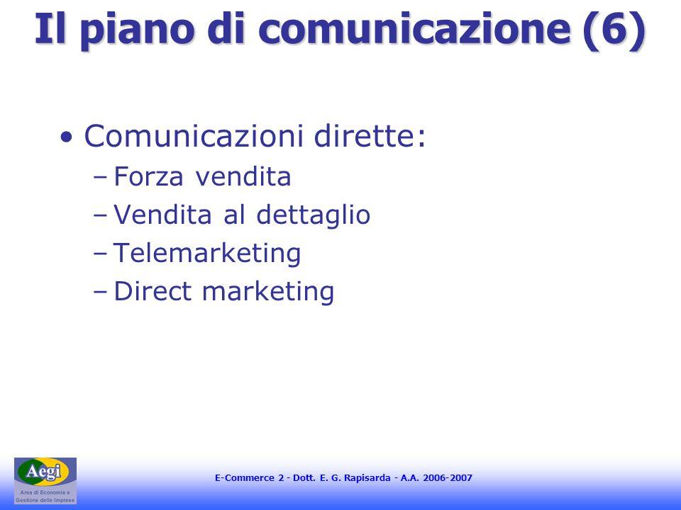 Il piano di comunicazione (6)