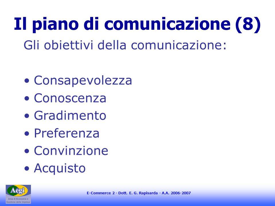 Il piano di comunicazione (8)