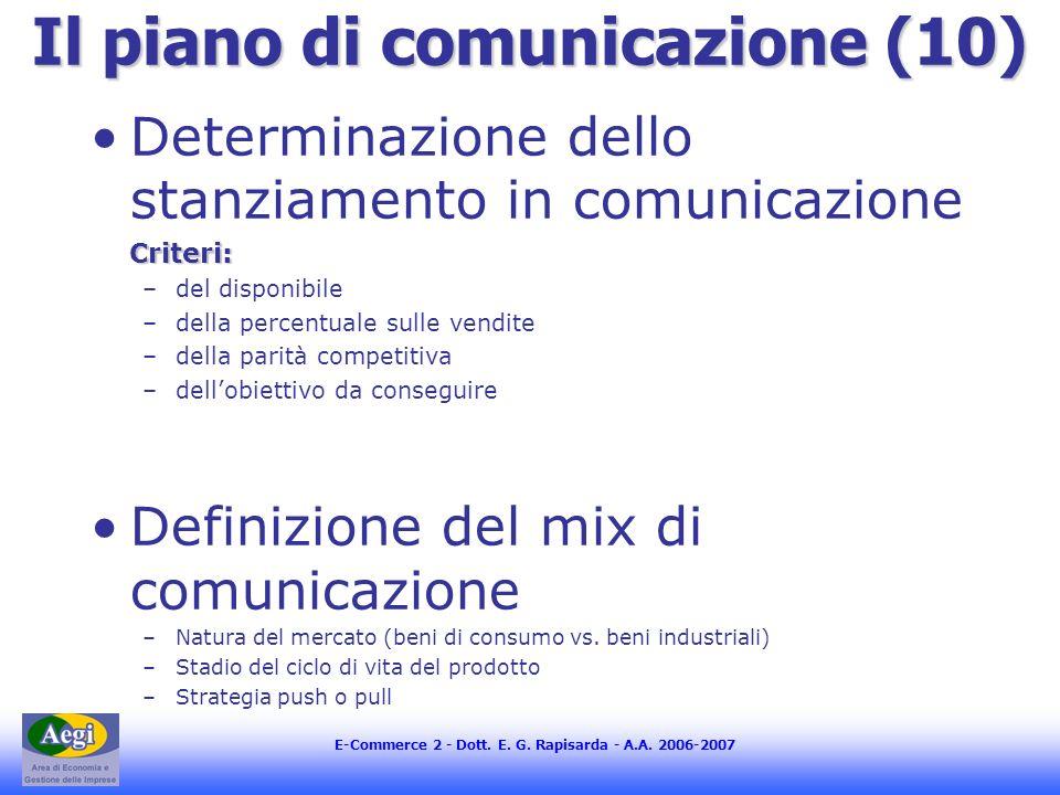 Il piano di comunicazione (10)