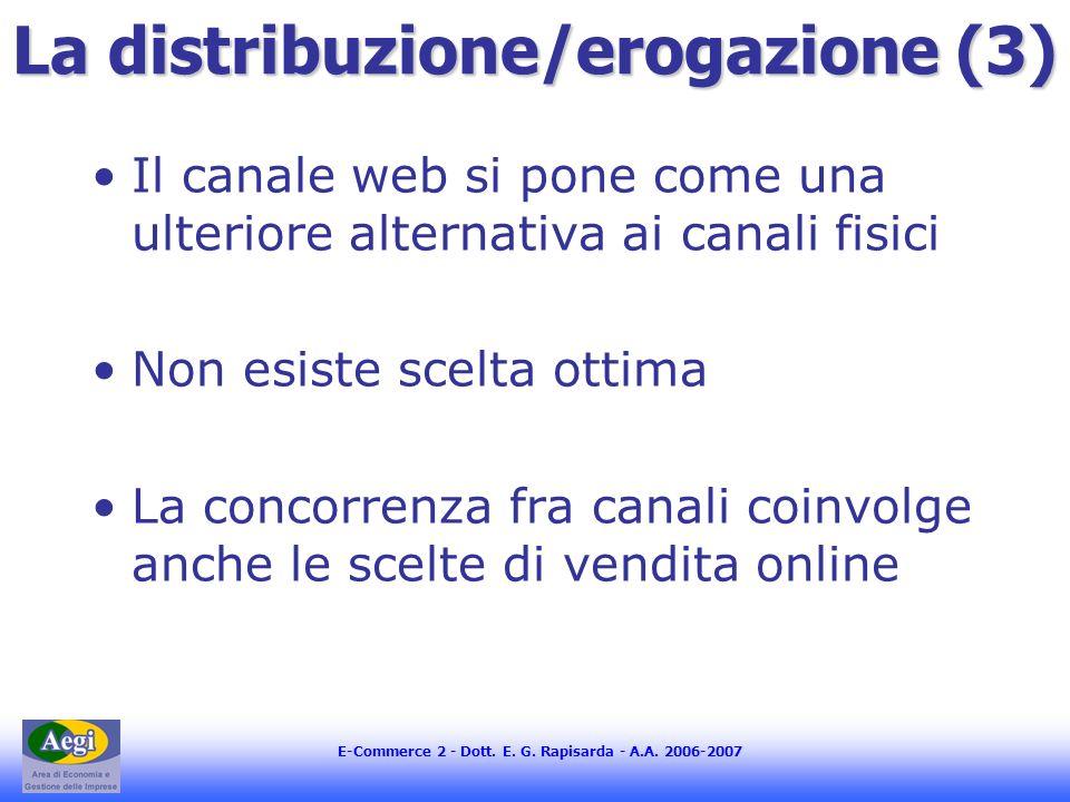 La distribuzione/erogazione (3)