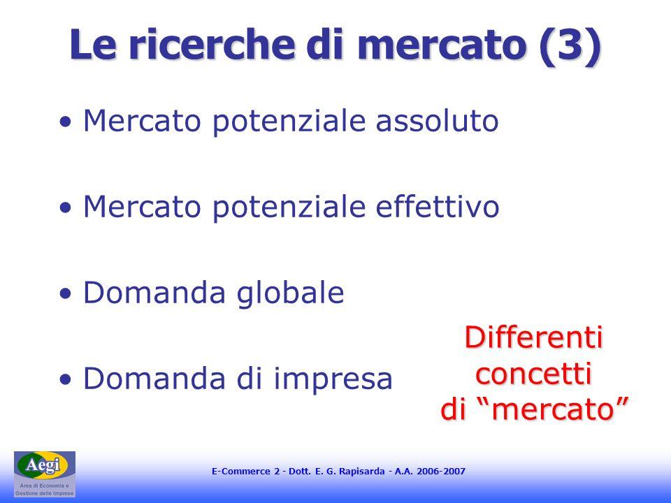 Le ricerche di mercato (3)