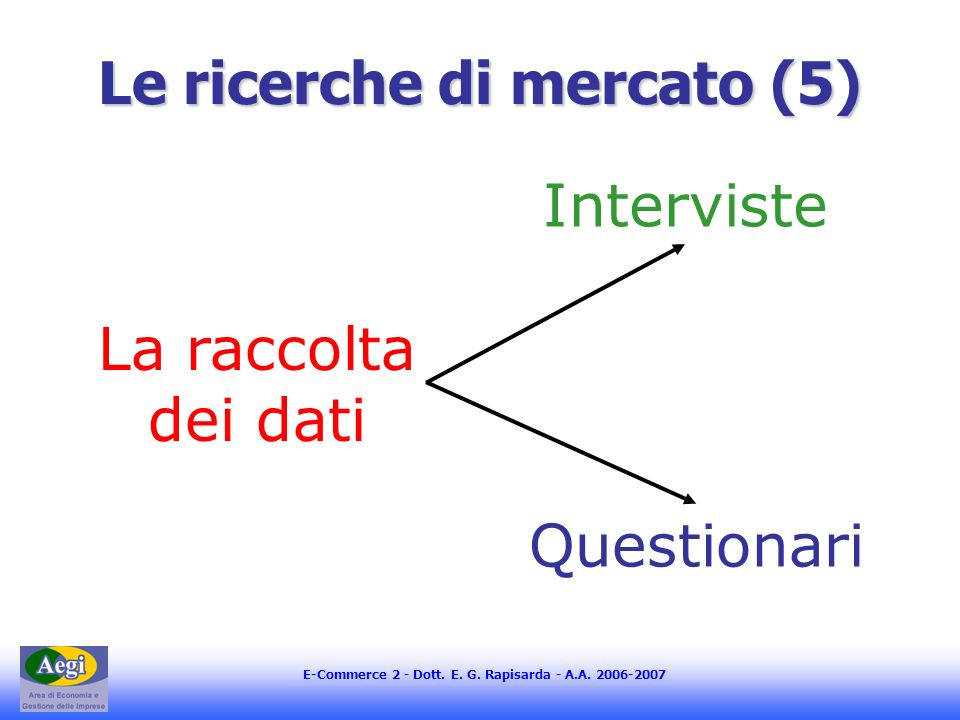Le ricerche di mercato (5)