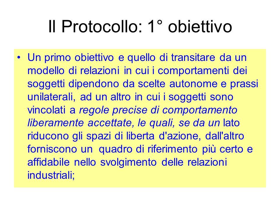 Il Protocollo: 1° obiettivo
