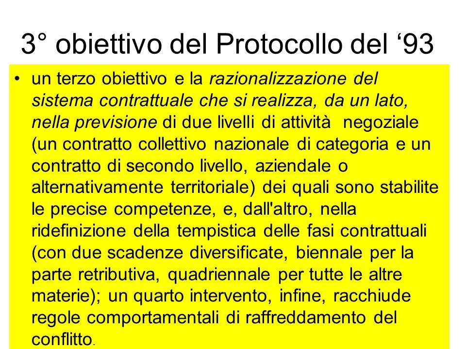 3° obiettivo del Protocollo del '93