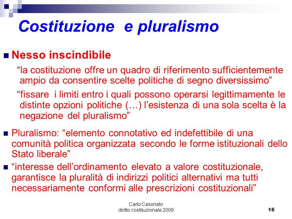 Costituzione e pluralismo