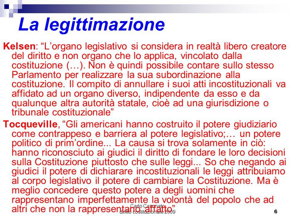 Carlo Casonato diritto costituzionale 2009