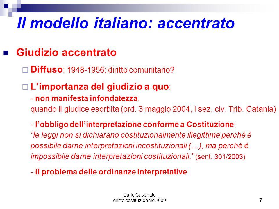 Il modello italiano: accentrato